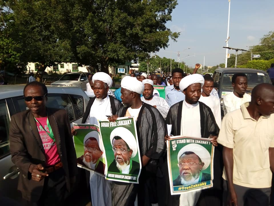 free zakzaky protest in abuja on mon 5 nov 2018