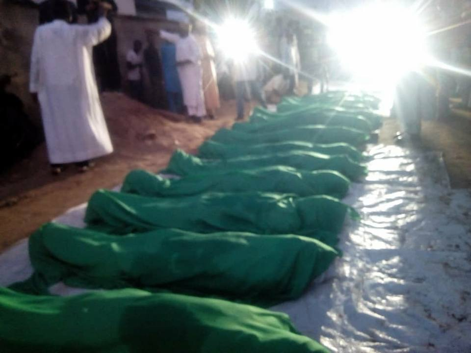 bodies of poeple killed by army on 29 oct