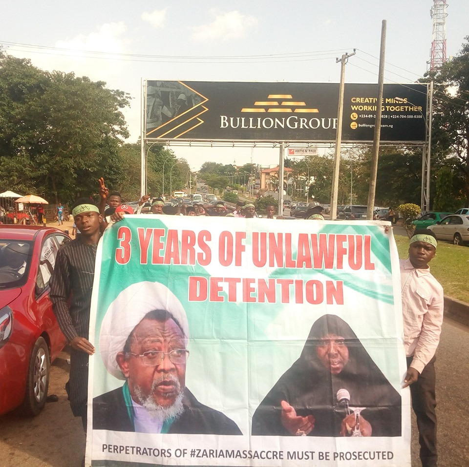 free zakzaky protest in abuja on tuesday 22nd of oct 2019