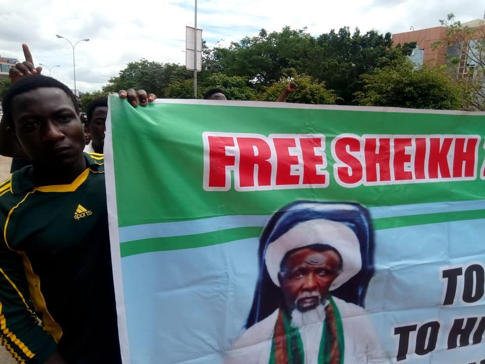 free zakzaky protest in abuja on 29th of oct 2019