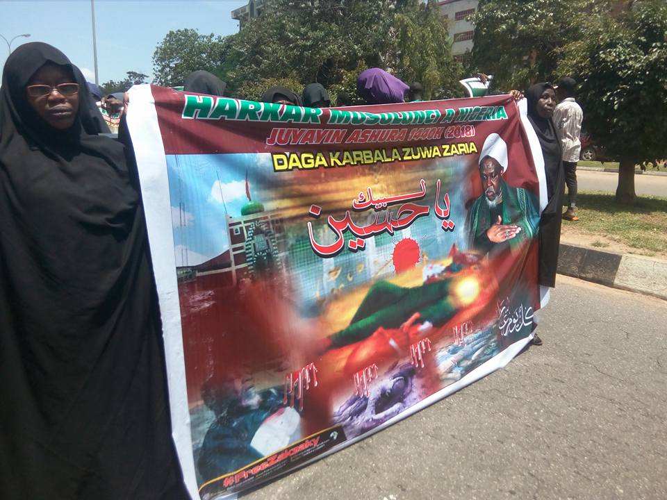 ashura1440 mourning procession in Abuja