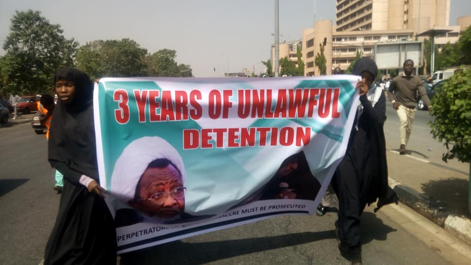 free zakzkay in abj on 12 dec marking 3 yrs of zaria massacre