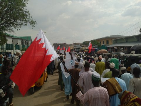protest in kano condemning bahrain govt