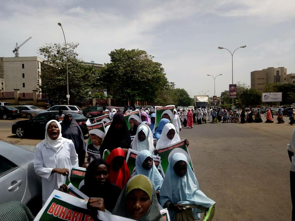 free zakzaky protest in abuja by ophans