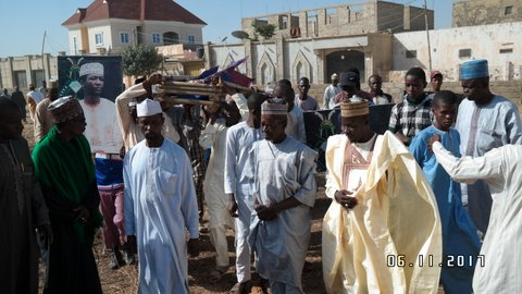 funeral of shahida husaina  nalado killed by police in kano