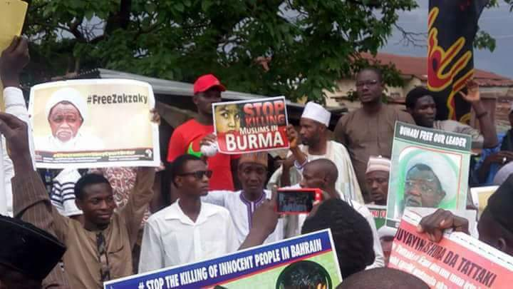protest in suleja against genocide in burma