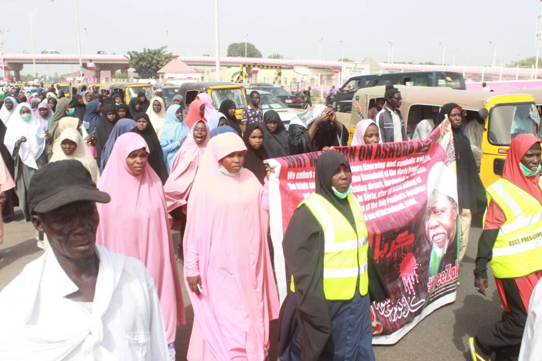 arbaeen symbolic trek from kano on first day