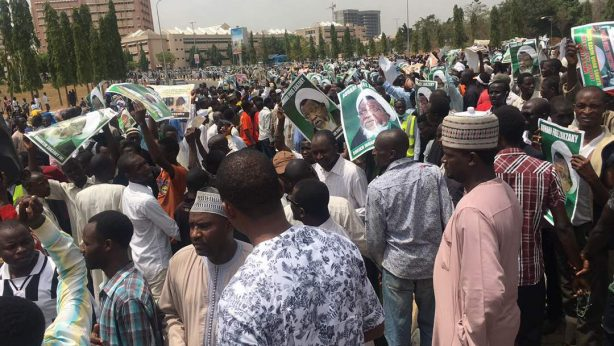 concerned nigeria free zakzaky protest in abuja on 21 feb