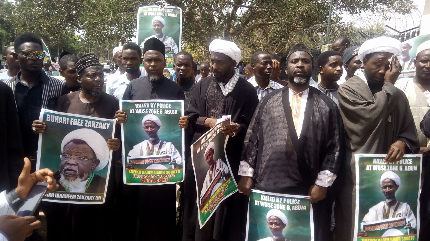 free zakzaky protest in abuja on 12 feb