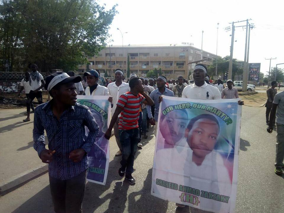 free zakzaky protest in  abuja on 1 march