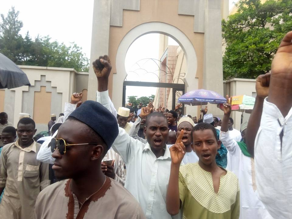 free zakzaky protest in  abuja on 2 march