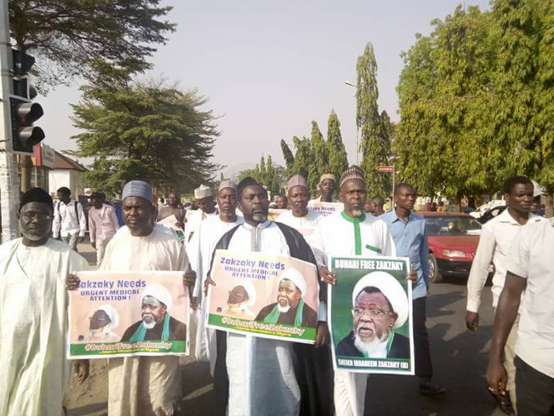 free zakzaky in Abuja on 31 jan