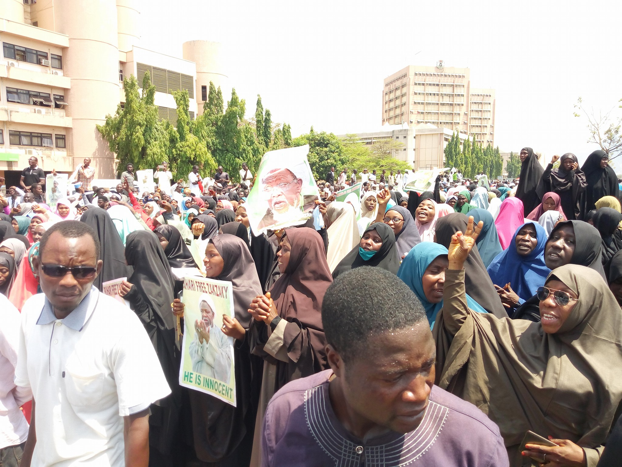 free zakzaky protest in  abuja on  7  march