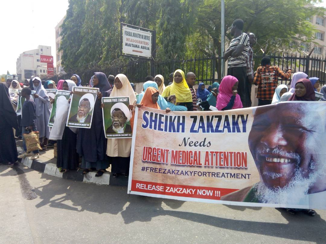 free zakzaky protest in abuja on 8th feb