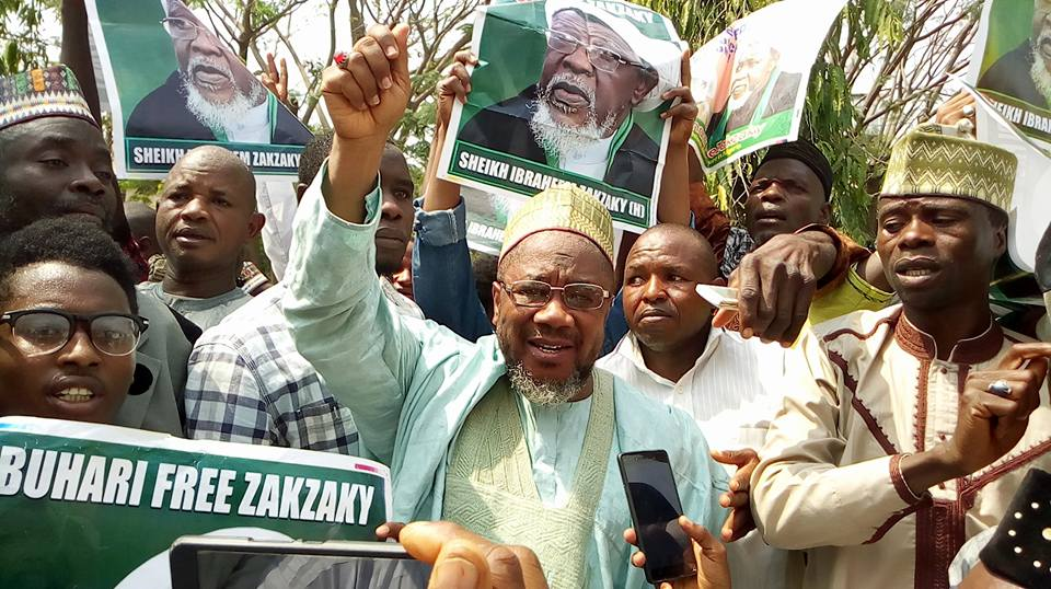 free zakzaky protest in abuja on 9th feb