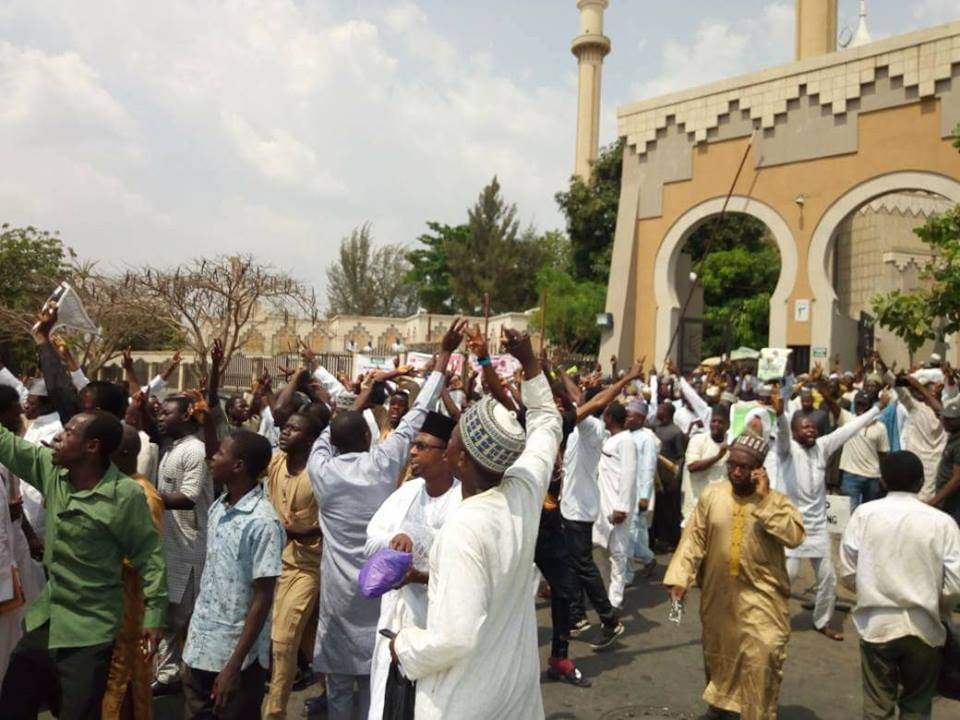 free zakzaky rally at abuja mosque on  9  march