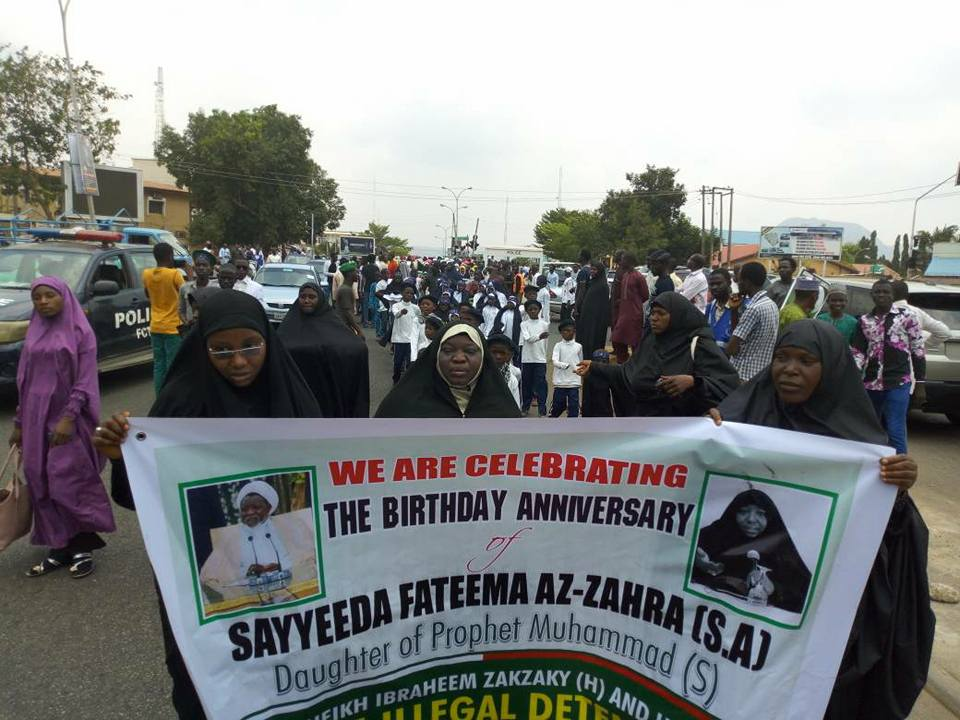 Zahra day/free zakzaky protest in  abuja on Thurs 8 march