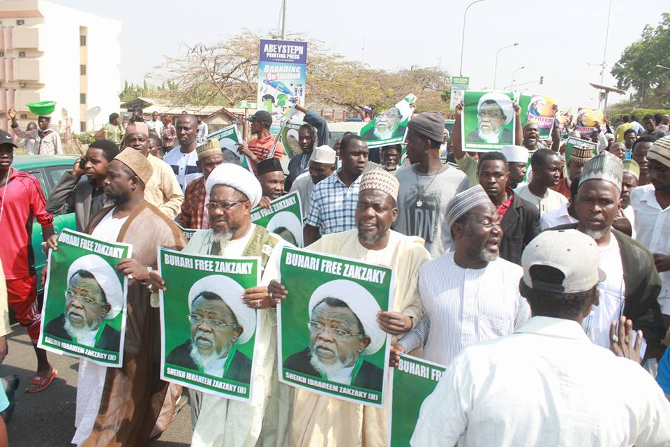 free zakzaky protest in abuja on 11th jan