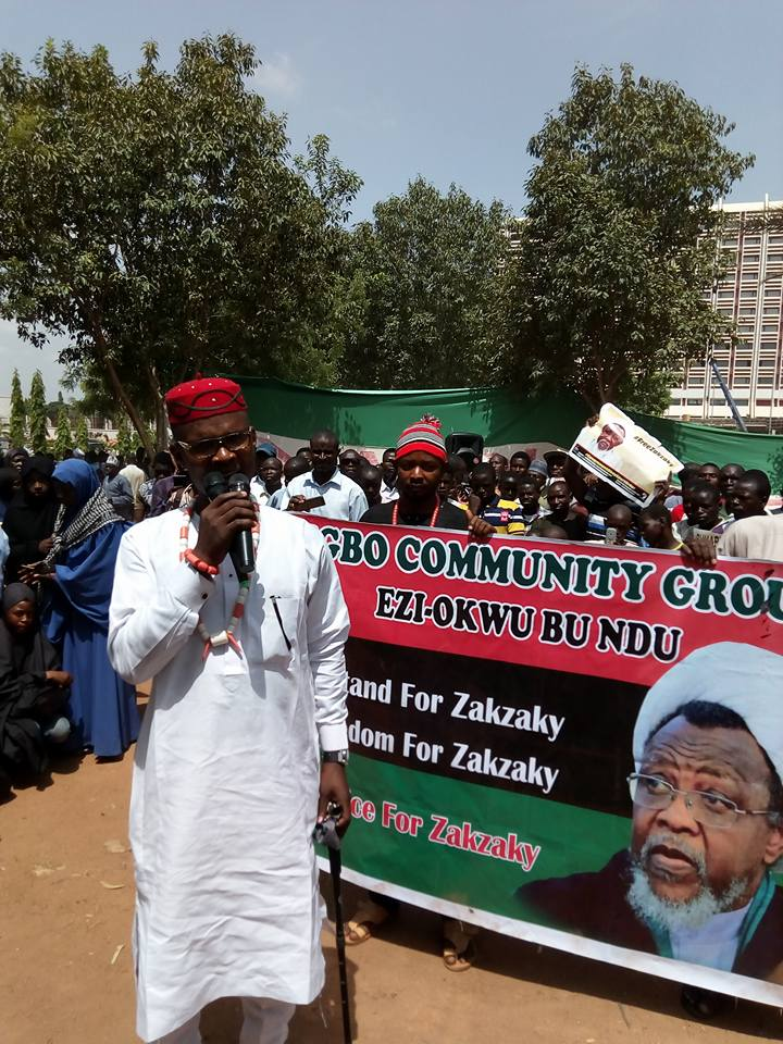 free zakzaky protest abuja on 11th April 2018