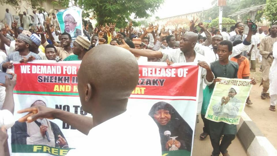 free zakzaky protest abuja on 6th April 2018
