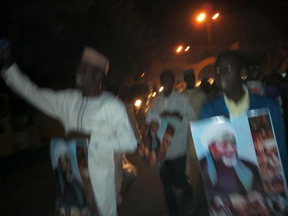 free zakzaky protest in bauchi for medical care