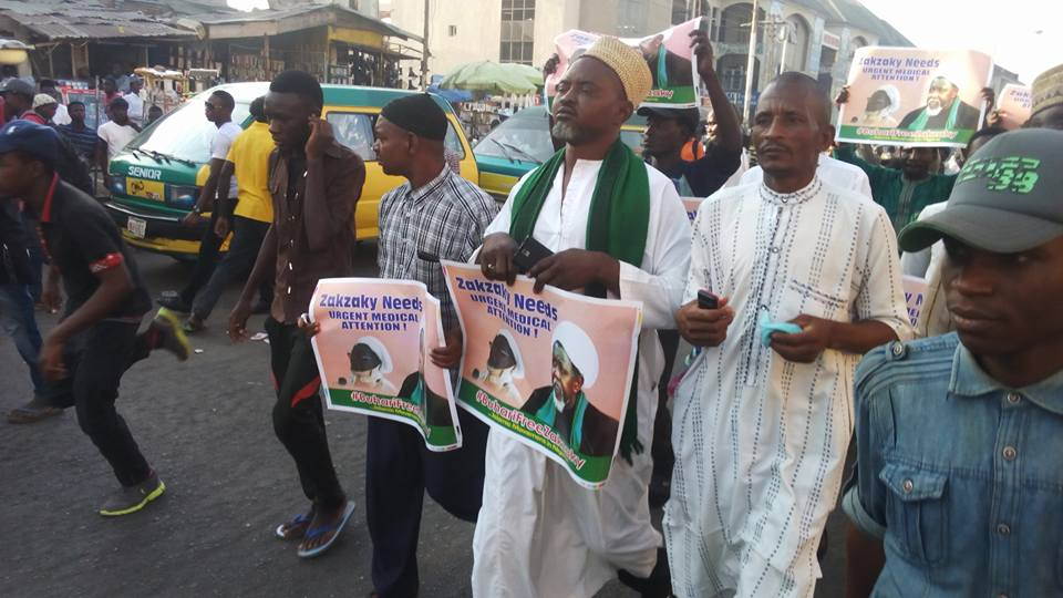 free zakzaky protest in  kaduna on 6 march