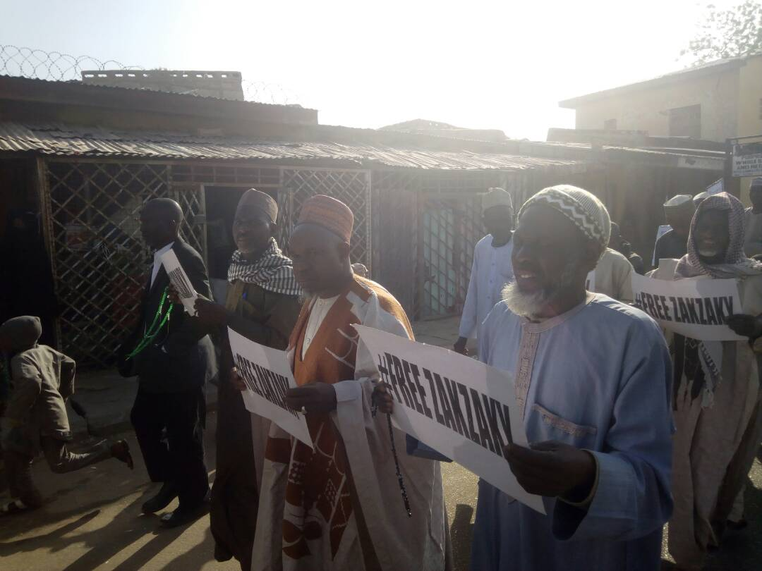 free zakzaky protest in katsina for medical care