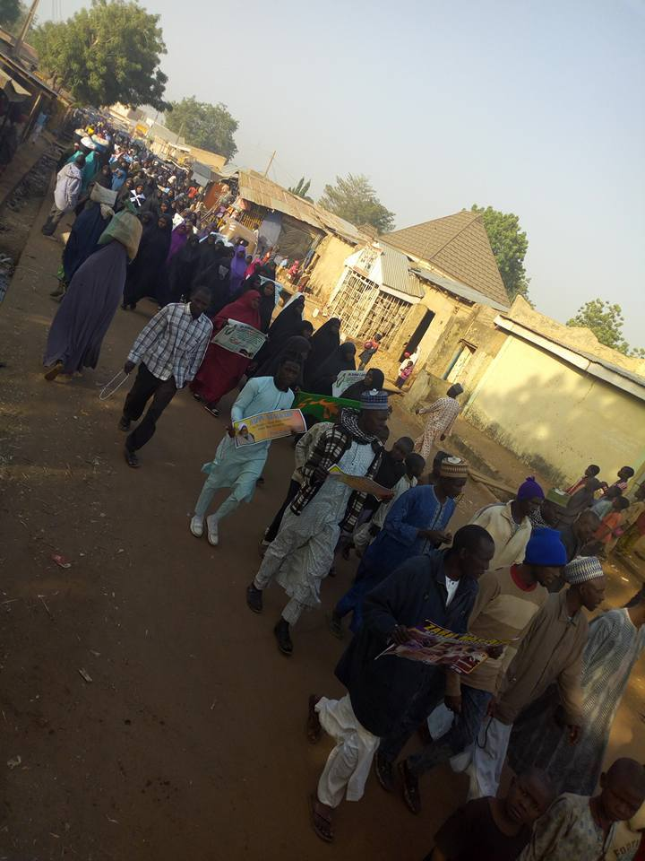 free zakzaky protest in potiskum for medical care