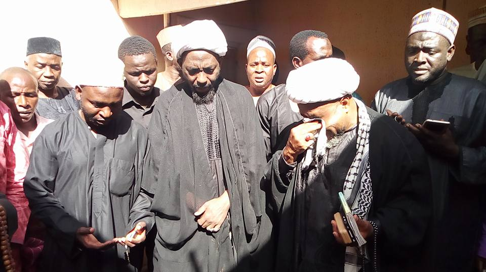 funeral of sheikh qasim in sokoto on 7th feb 2018