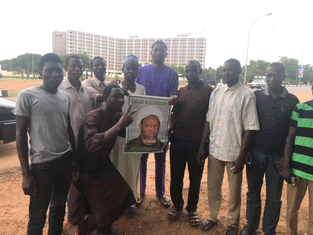 sit out free zakzaky protest abuja on 15th April 2018 in abuja security forces