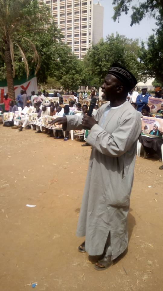 daily sitout for free zakzaky in Abuja on 25 jan