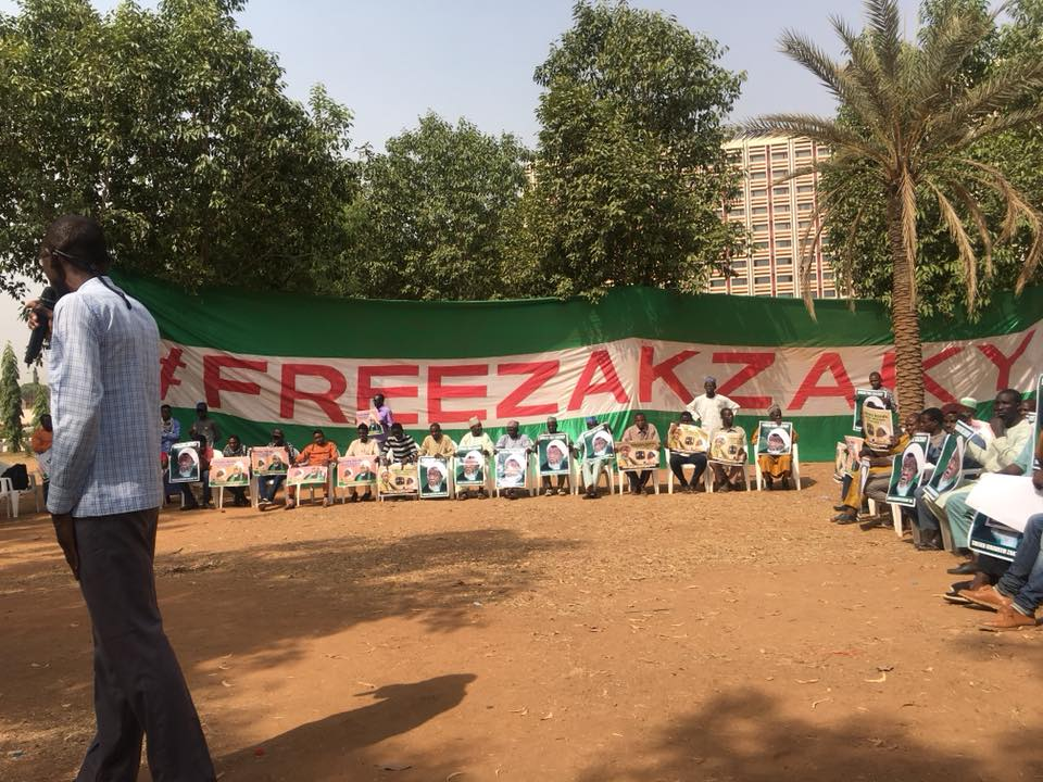 sit out for free zakzaky in Abuja on 26 jan