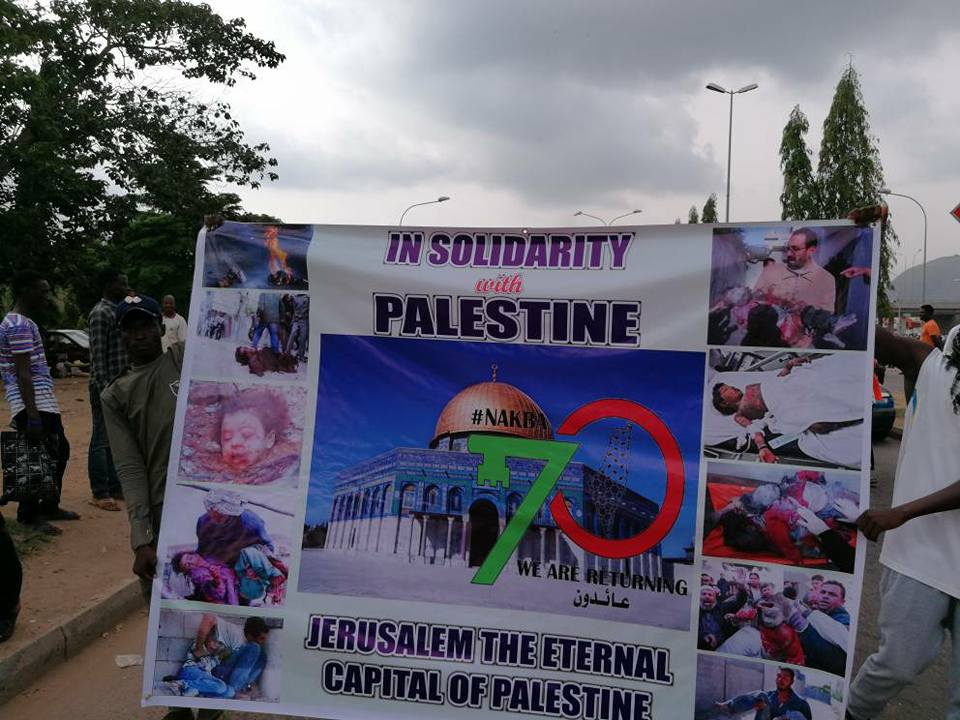 support of Palestine and free zakzaky protest in abuja on 16 may 2018