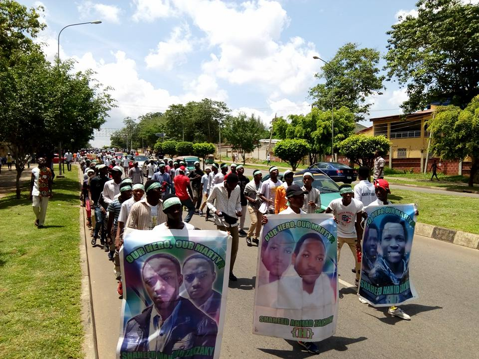 free zakzaky in abuja wed 4th of july 2018