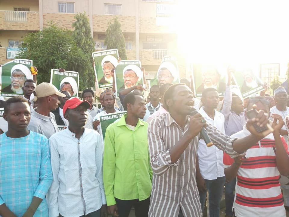 free zakzaky protest abj on 7th may 2018