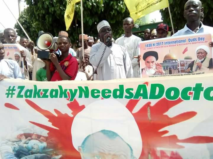 free zakzaky rally in yola friday 13th july 2018