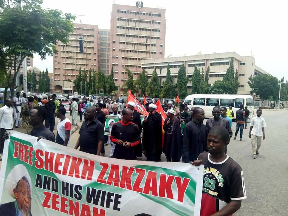 free zakzaky in abuja on Thursday 13th sept 2018, marking 1000days