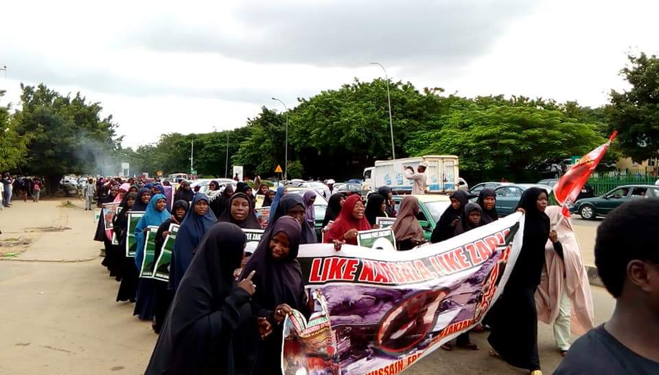 free zakzaky in Abuja on wed 26 sept