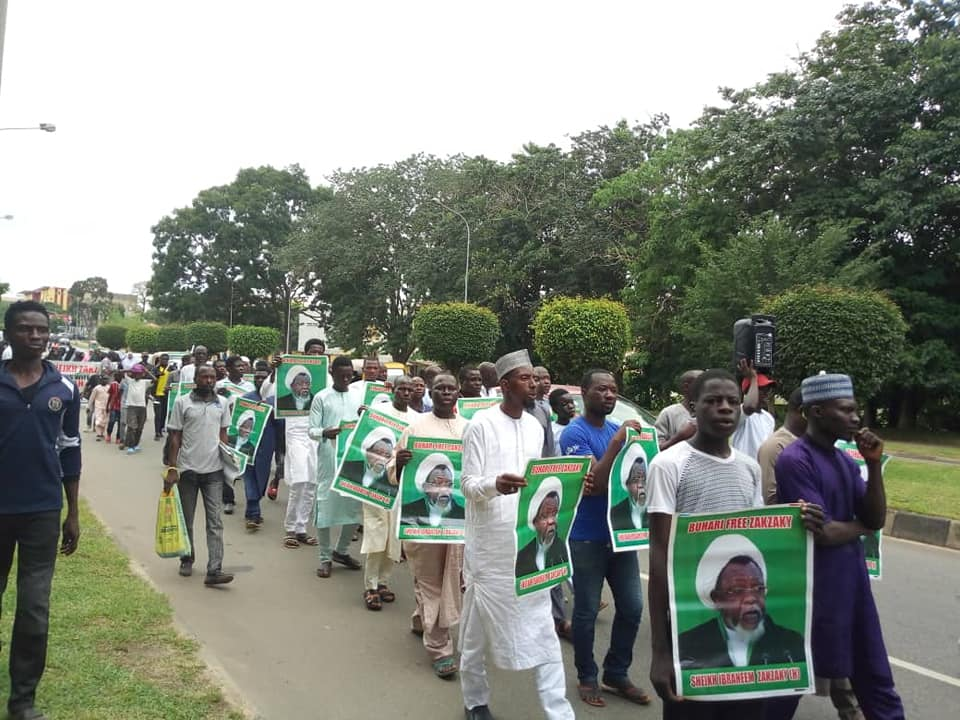 free zakzaky in abuja on tuesday 4th september 2018