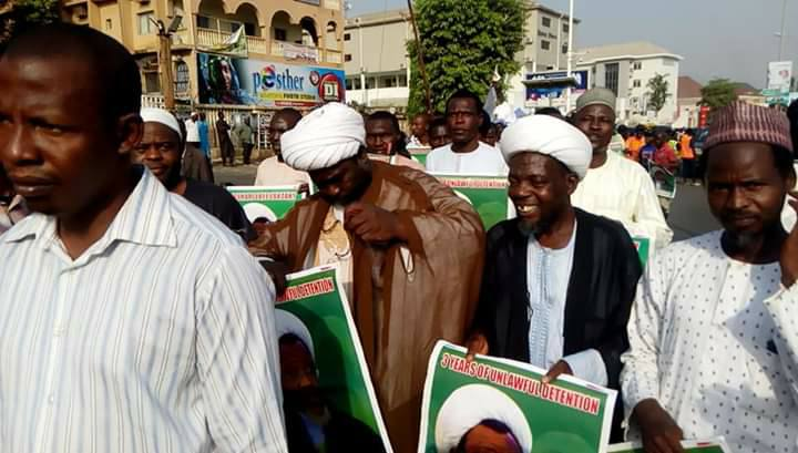 free zakzaky in abuja on 15 jan 19