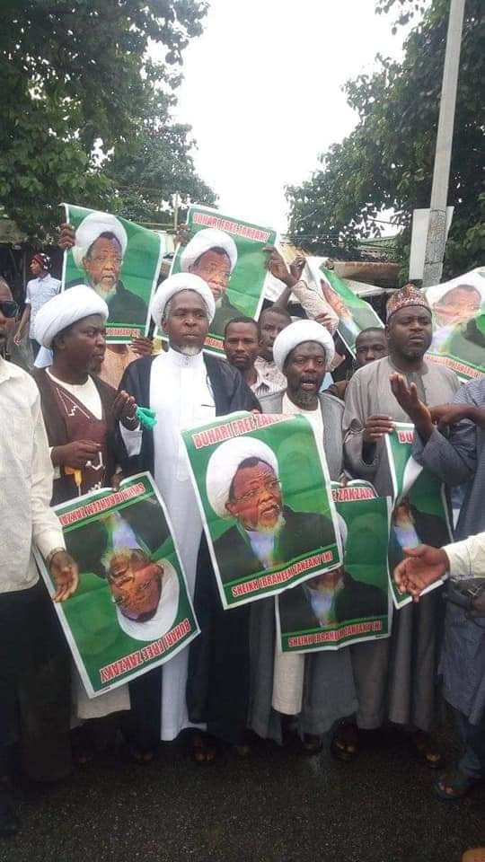 free zakzaky protest in abuja on thurs 25th july 2019