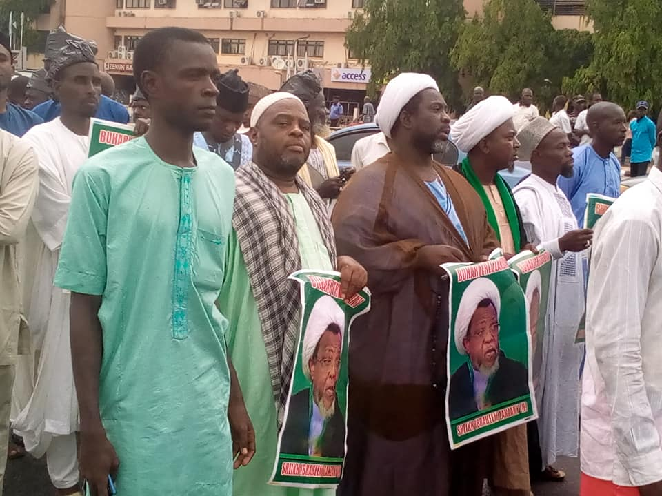free zakzaky protest in Abuja on thurs the 27th june 2019