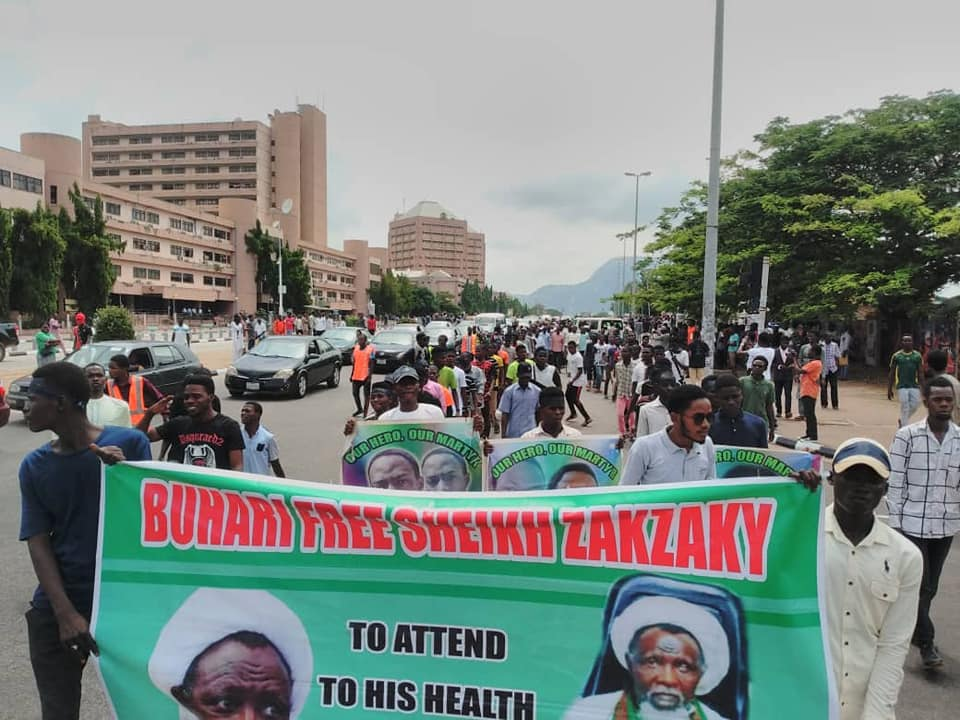 free zakzaky protest in abuja on tue the 28 th of may 2019