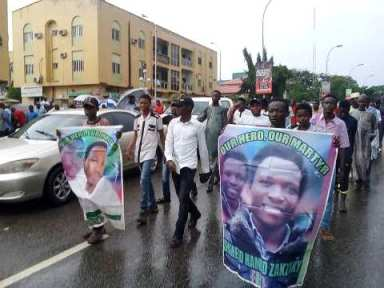 free zakzaky for treatment protest in abuja on thurs 29 of august 2019