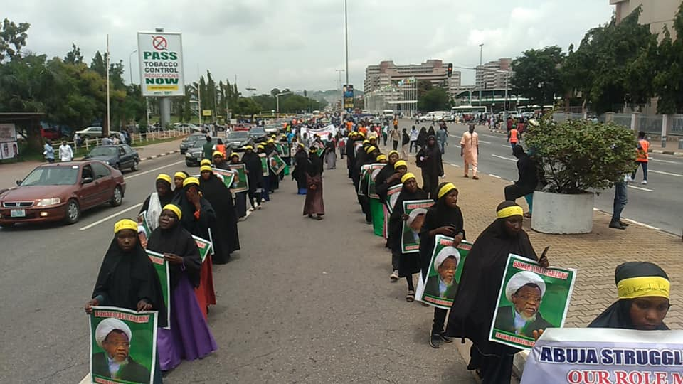 free zakzaky protest in Abuja on Tuesday 2nd july 2019